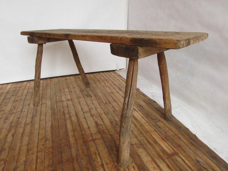 19th Century American Primitive Butcher Table 2
