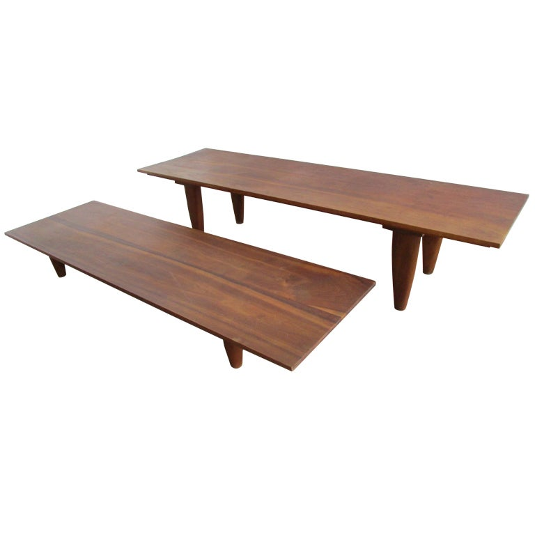 Danish Modern Low Table Benches By Hans Christiansen At 1stdibs