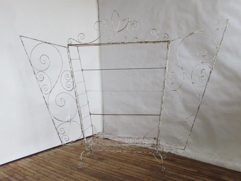 20th Century French Wire Etagere Mategot Style For Sale