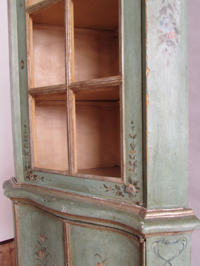 antique corner hutch for sale antique italian painted corner cabinet for at 1stdibs 7470
