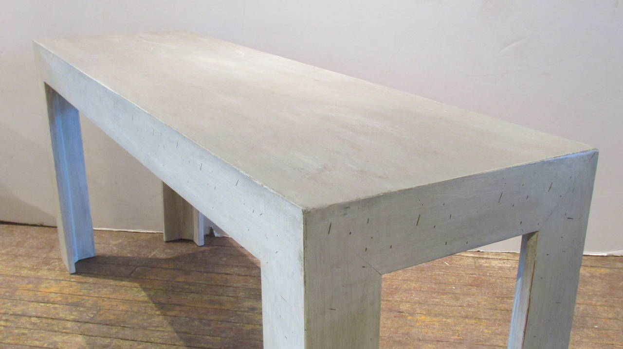 Parsons Console Table In The Style Of Jean Michel Frank 3