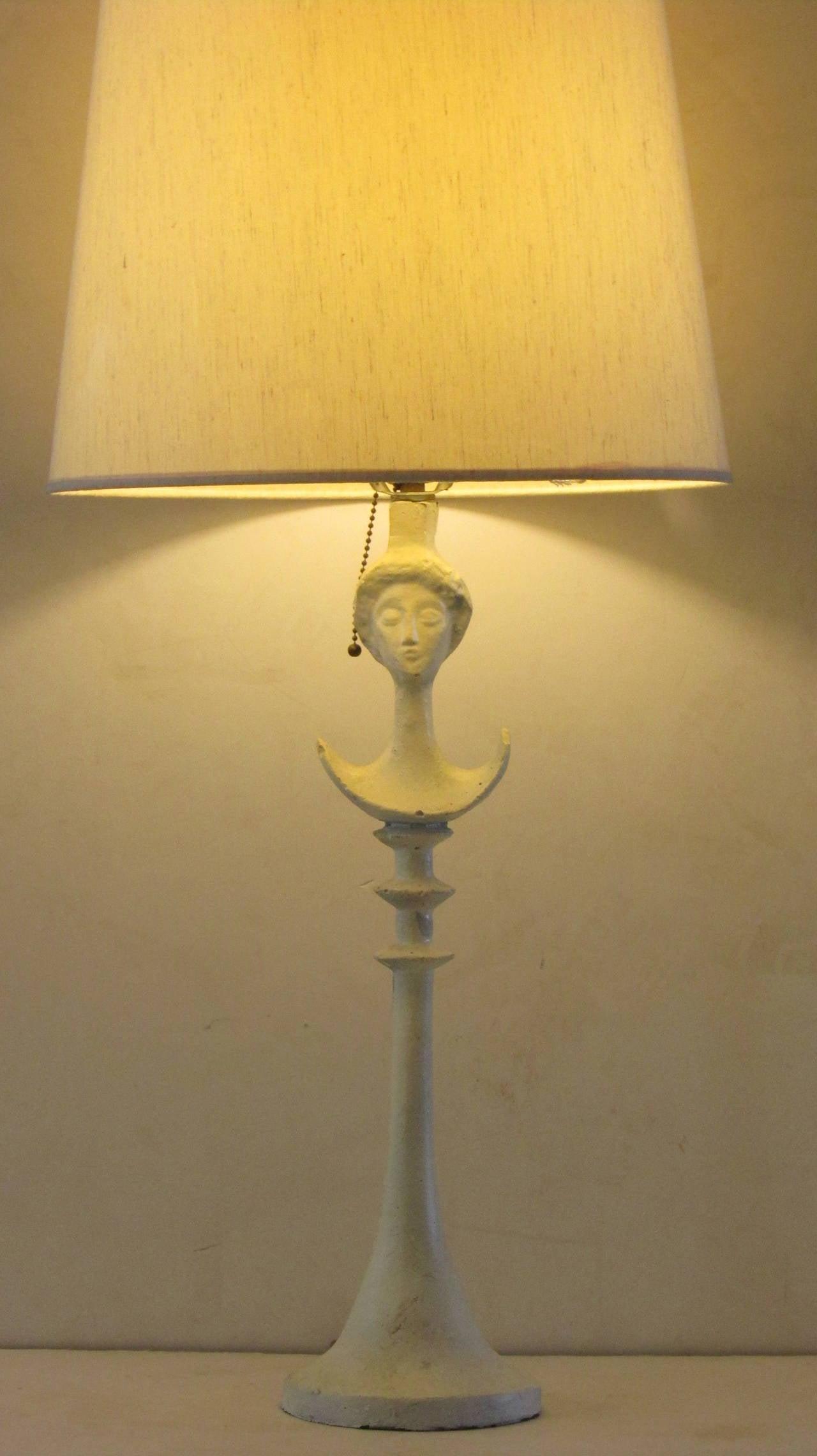 Tete de Femme Table Lamp in the Style of Alberto Giacometti