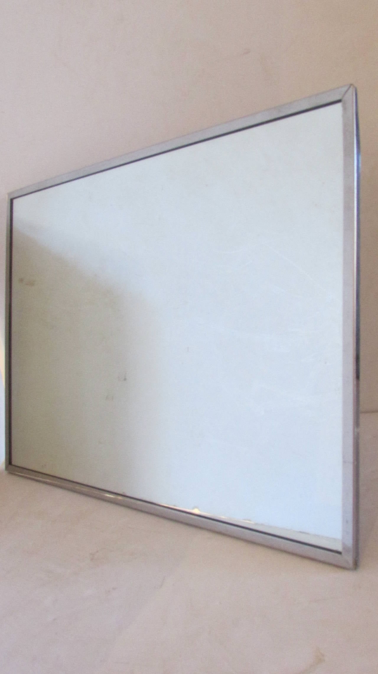 Stainless Framed Mirror - mid20th century industrial stainless steel ...