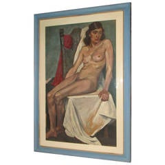 Large Female Nude Oil Painting 1930's