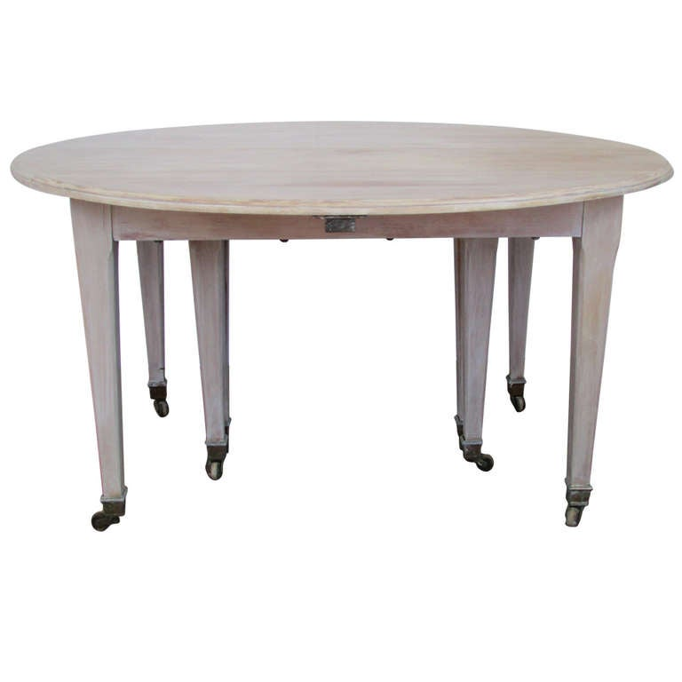 19th Century French Drop Leaf Extension Dining Table At 1stdibs