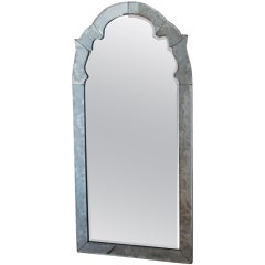 Arched Top Venetian Beveled Panel Mirror