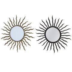 Iron Sunburst Mirrors