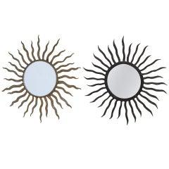 Iron Sunburst Mirrors