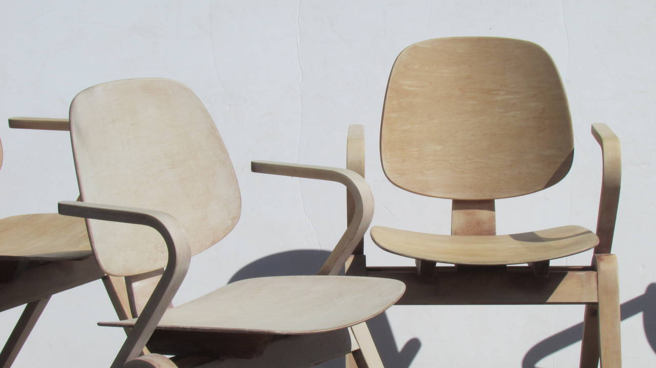 Mid-Century Modern Thonet Bentwood Armchairs by Joe Atkinson ( 2 chairs sold - 2 chairs available )