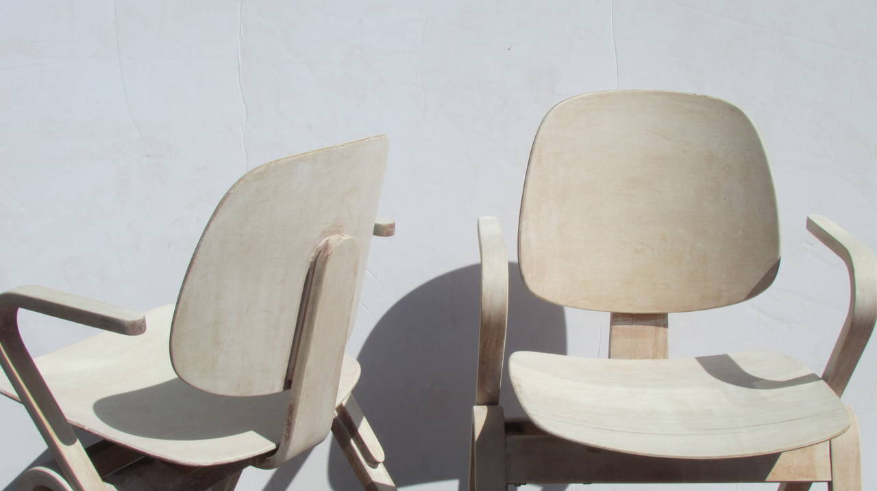 Bleached Thonet Bentwood Armchairs by Joe Atkinson ( 2 chairs sold - 2 chairs available )