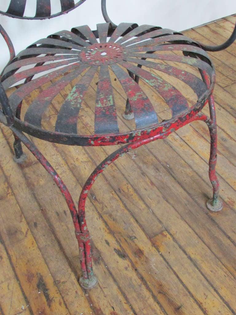 1930's Francois Carre Sunburst Spring Garden Chairs image 5