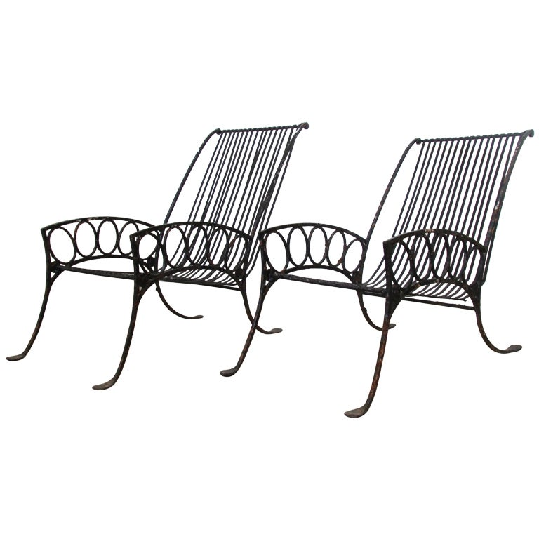 french art deco iron chairs at 1stdibs
