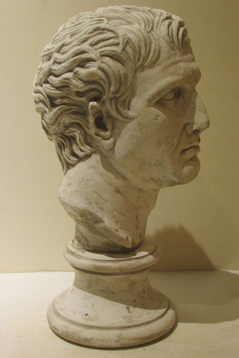 Plaster Sculpture Bust Of A Classical Roman At 1stdibs