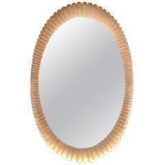 Large Scallop Design Gilded Mirror