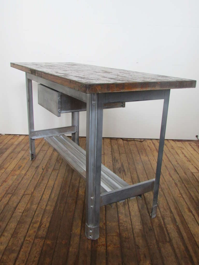 Industrial Kitchen Work Table at 1stdibs