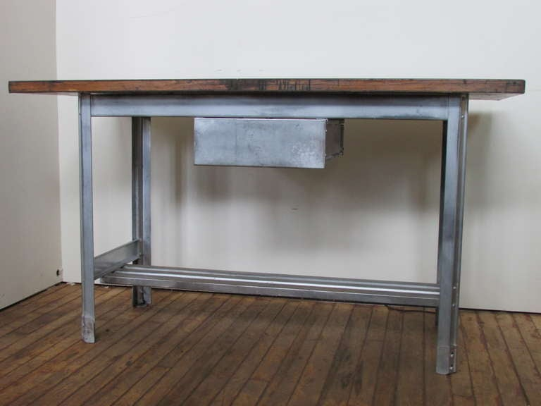 Industrial kitchen work table at 1stdibs american industrial kitchen work table for sale watchthetrailerfo
