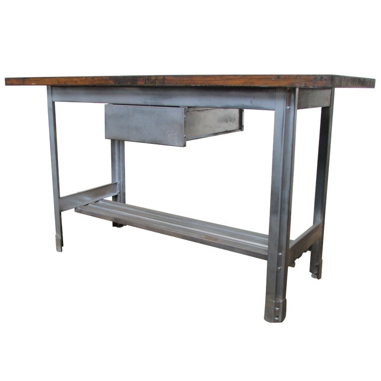 Industrial kitchen work table for Furniture work table
