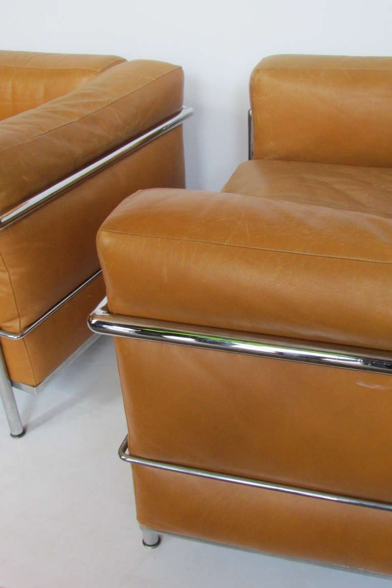 Le Corbusier Lc3 Grand Modele Armchairs For Cassina At 1stdibs