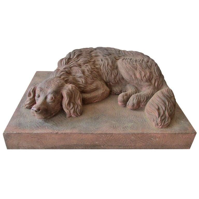 Life Size Terracotta Spaniel