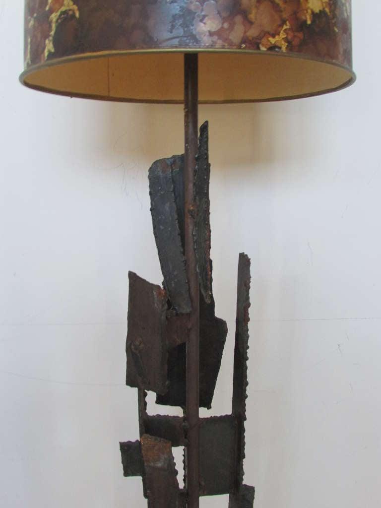 Harry Balmer Brutalist Iron Sculpture Lamp 3