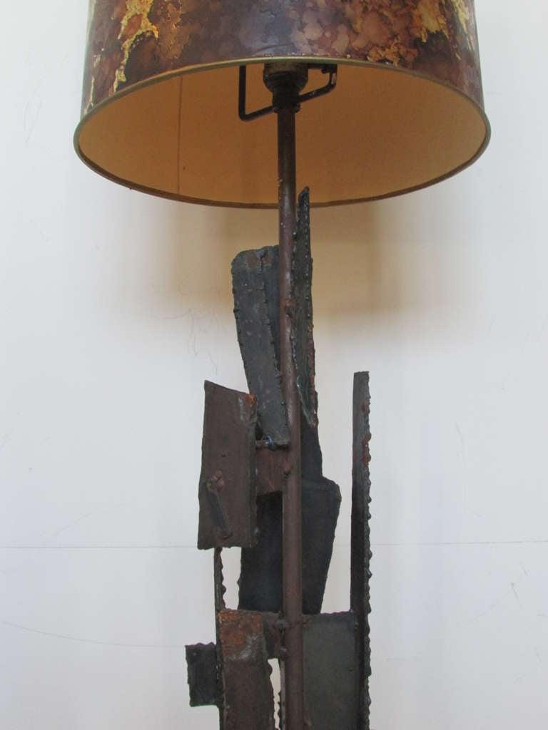 Harry Balmer Brutalist Iron Sculpture Lamp 4