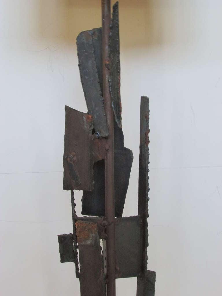 Harry Balmer Brutalist Iron Sculpture Lamp 5