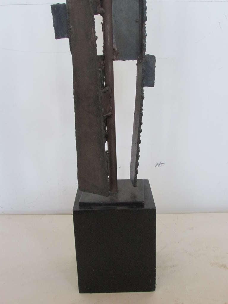 Harry Balmer Brutalist Iron Sculpture Lamp 7