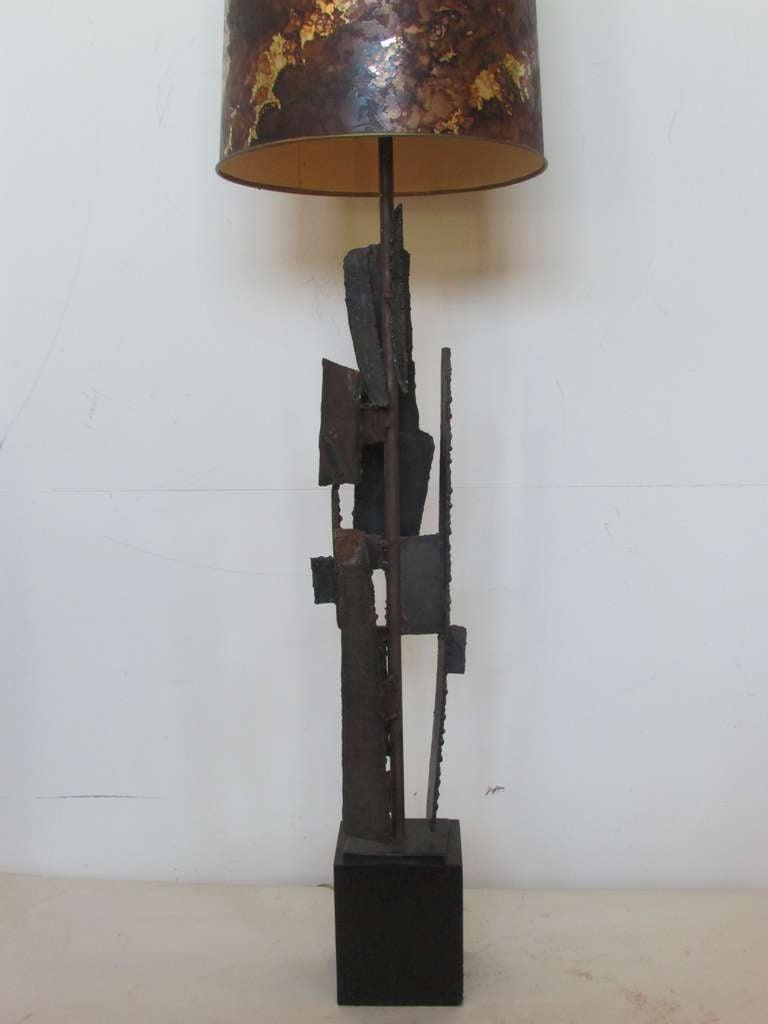 Harry Balmer Brutalist Iron Sculpture Lamp 8