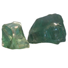 Large Sea Foam Green Old Factory Glass Cullets