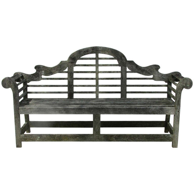 Lutyens english teak garden bench at 1stdibs Lutyens bench