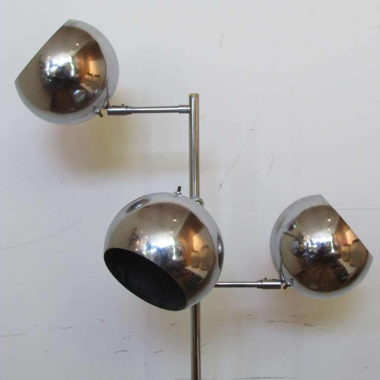 Mid-20th Century Koch & Lowy OMI Adjustable Floor Lamp For Sale
