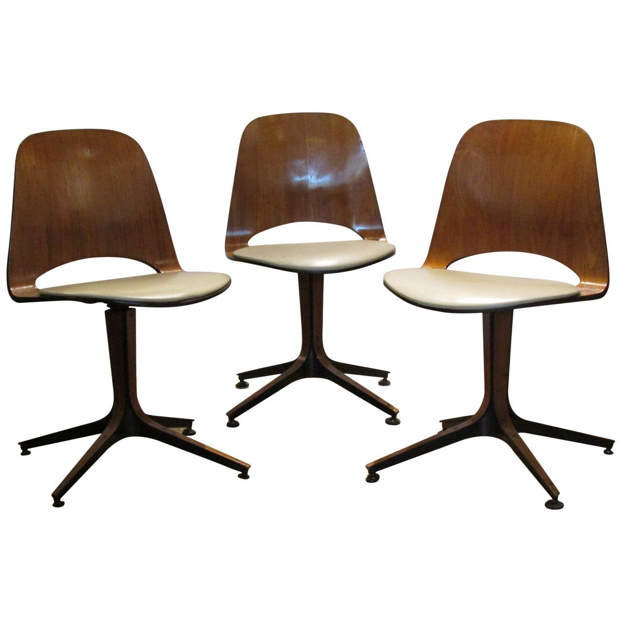 George Mulhauser Swivel Chairs for Plycraft  - 2 available