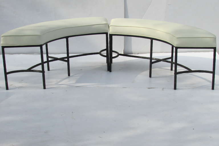 Curved Iron Benches For Modular Seating At 1stdibs