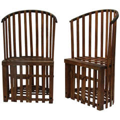 Mid 20th Century Lobster Trap Chairs
