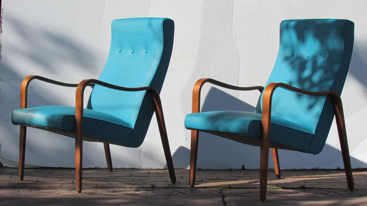 Streamlined bentwood lounge chairs by thonet for sale at 1stdibs