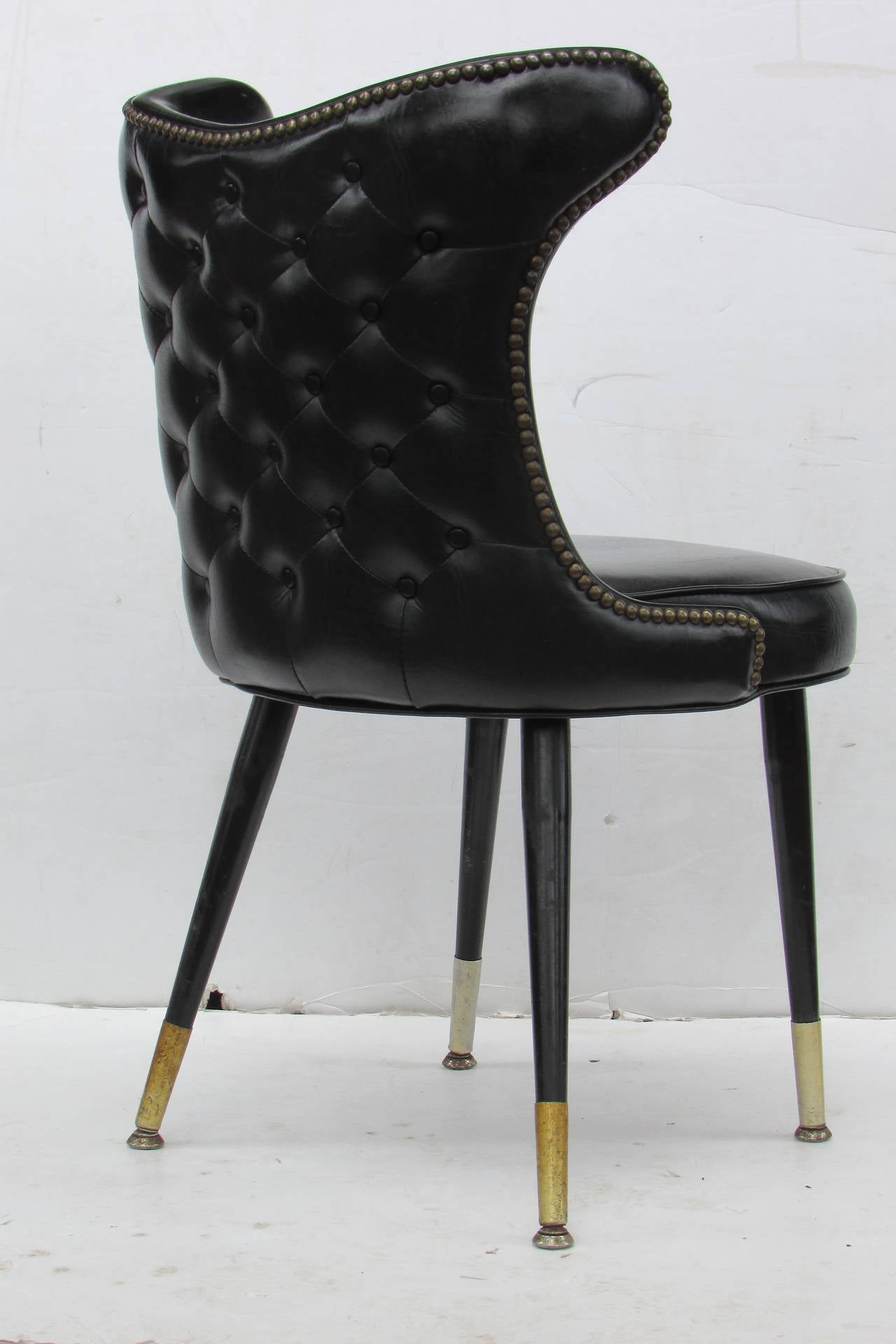Sleek modernist regency chairs at 1stdibs for Sleek dining room furniture