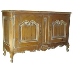 White Washed Pine Louis XV Style Buffet