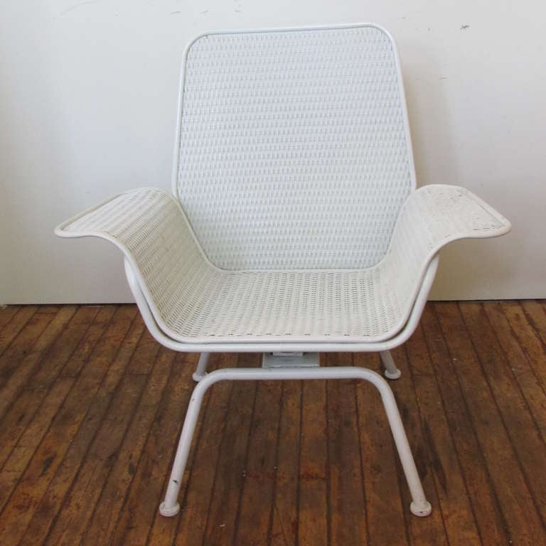 Mid Century Wicker Chairs at 1stdibs