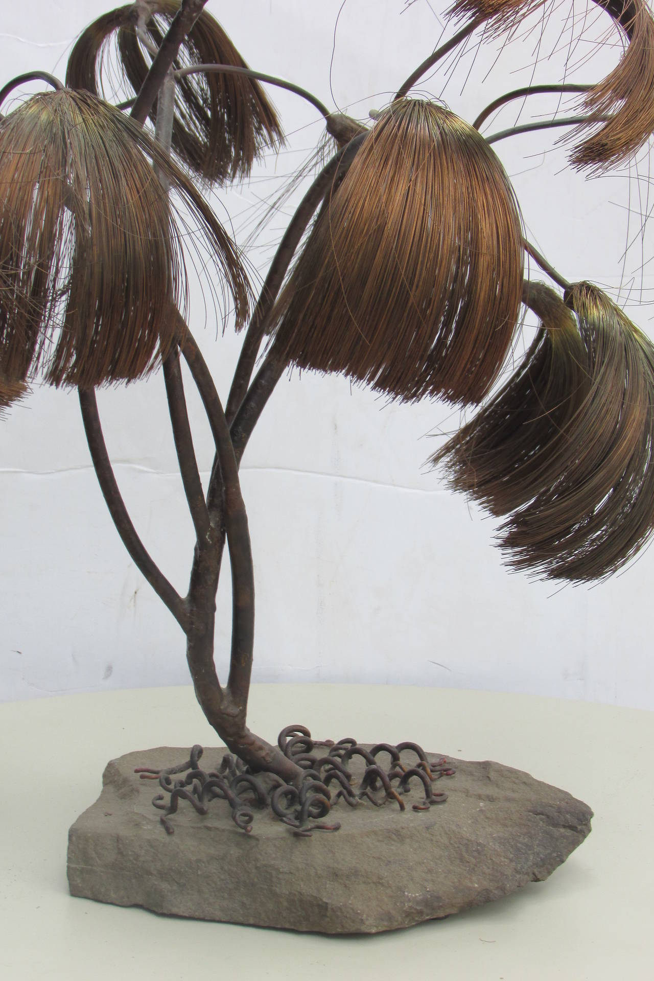 Large Metal and Wire Tree Sculpture at 1stdibs