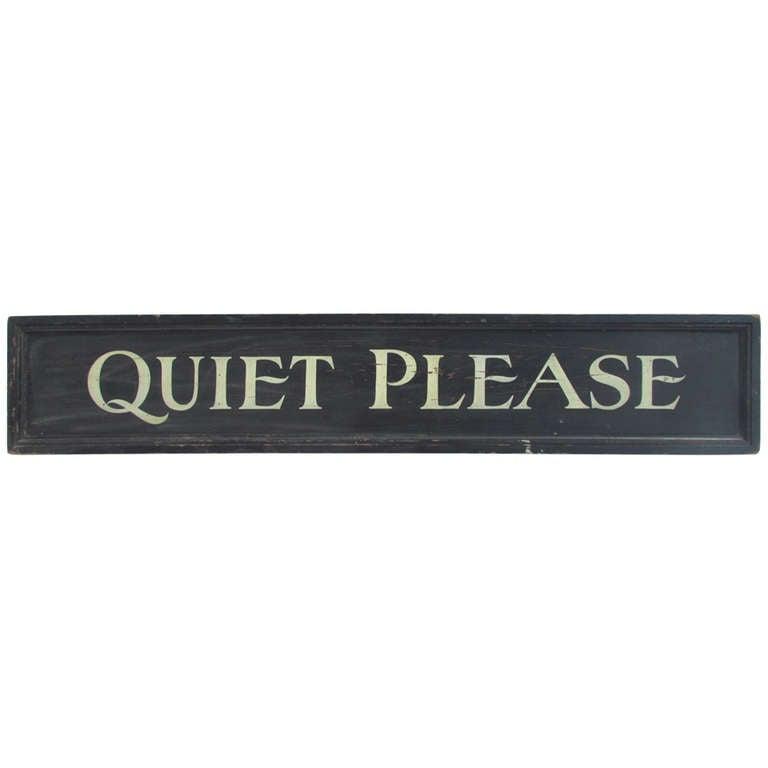 quiet please sign - photo #16