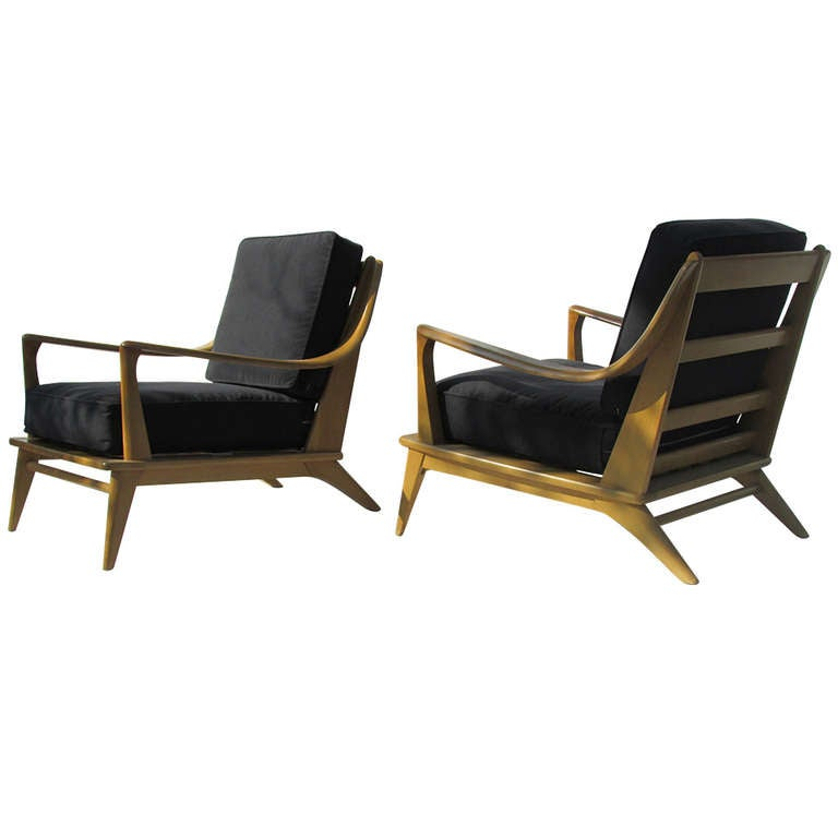 Heywood Wakefield Streamlined Lounge Chairs at 1stdibs