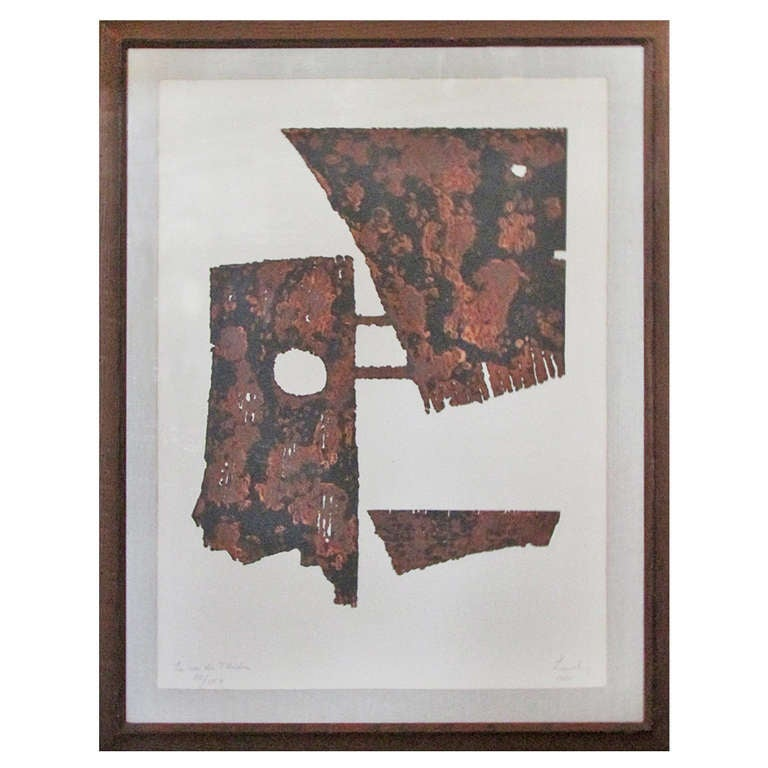 Signed & Numbered Sculptural Etching by Berto Lardera