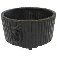 Faux Bamboo Design Cast Iron Planter