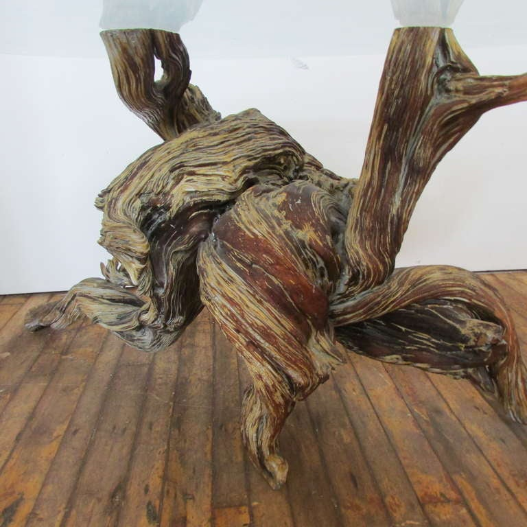 Driftwood Redwood Burl Root Sculpture / Table Base In Good Condition In Rochester, NY