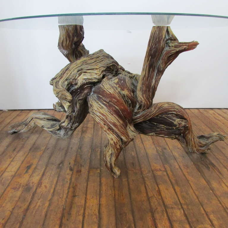 Driftwood Redwood Burl Root Sculpture Table Base For Sale At 1stdibs