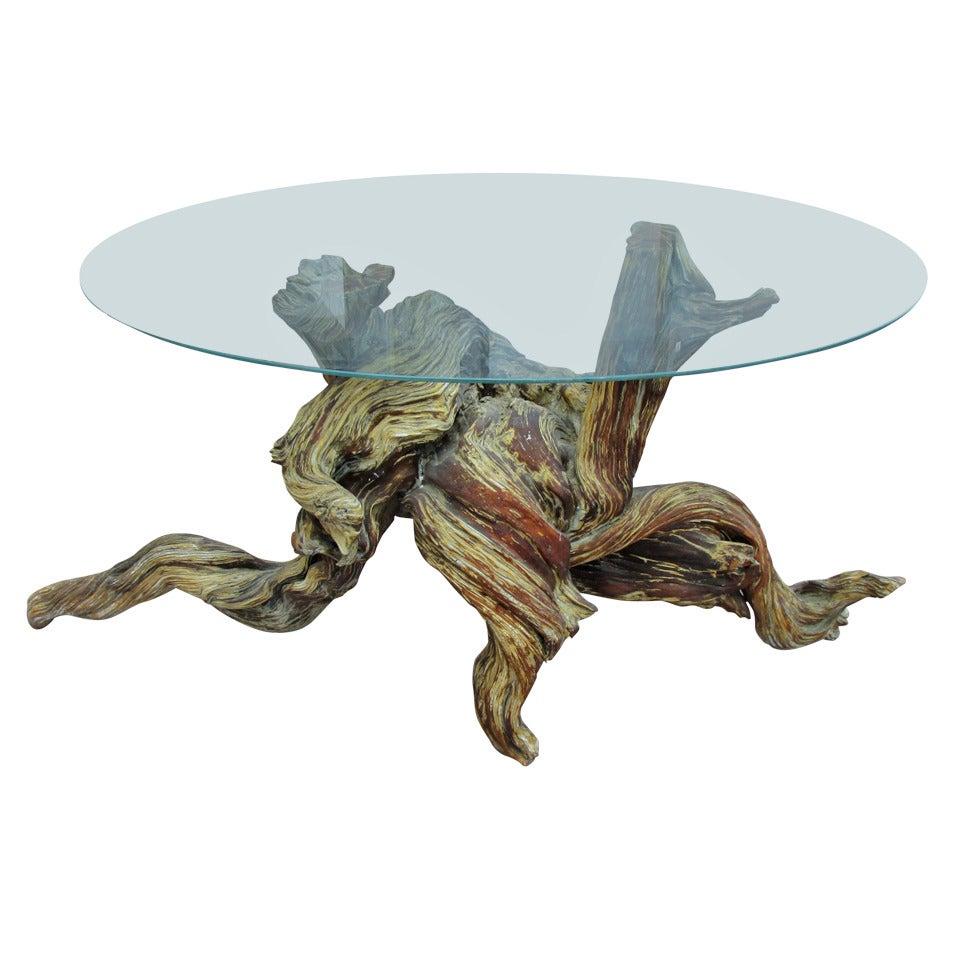 Driftwood Redwood Burl Root Sculpture / Table Base