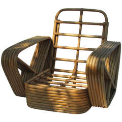 Rattan Lounge Chair by Paul Frankl