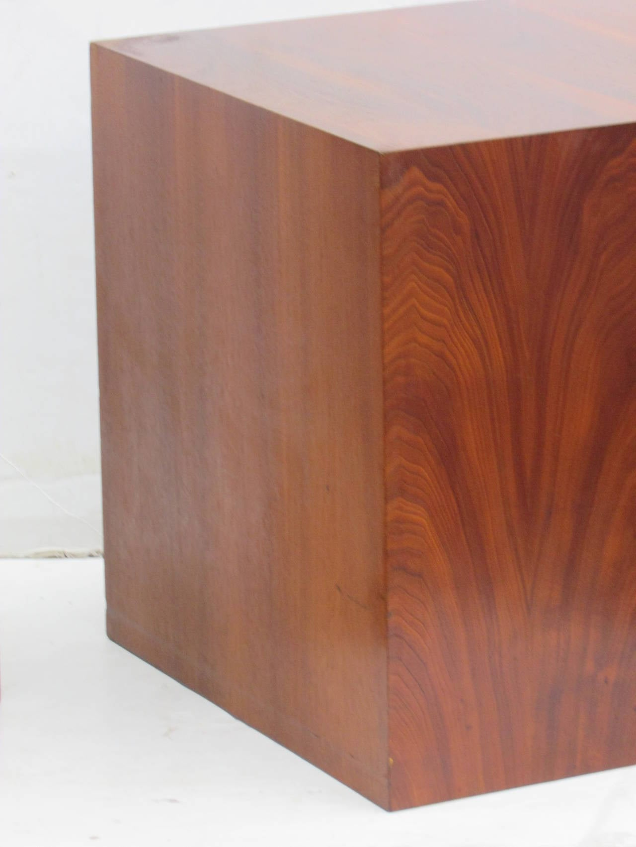 Pair Of Modernist Wood Cube Tables At 1stdibs