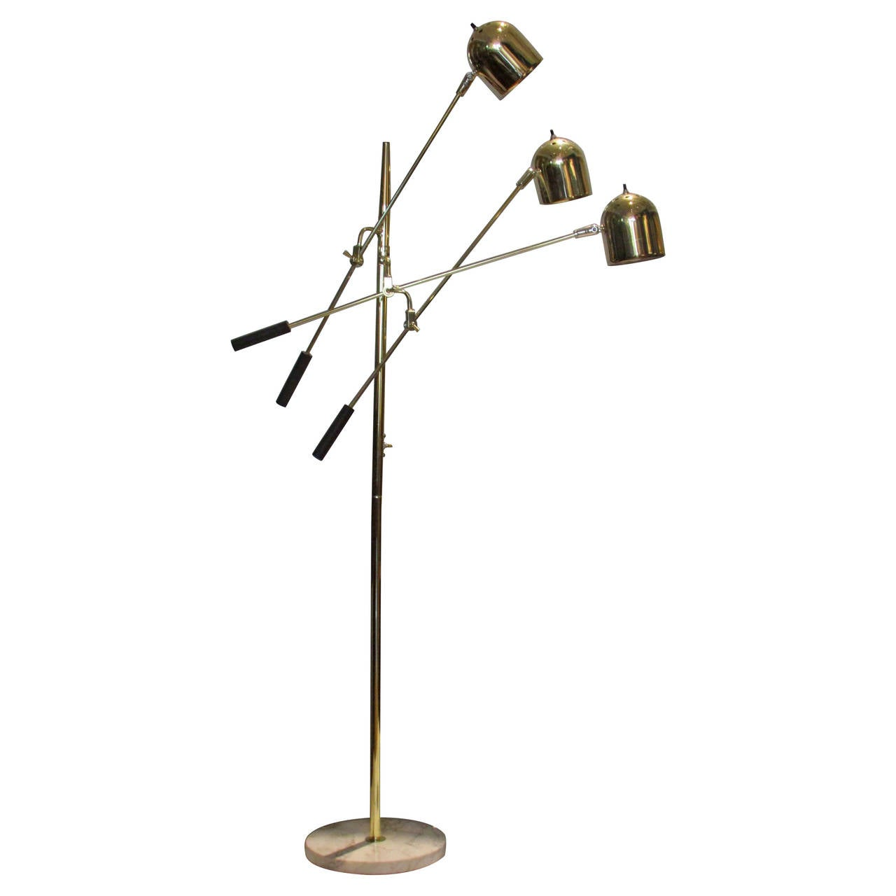 1960s italian articulated three arm floor lamp at 1stdibs for Led articulated floor lamp