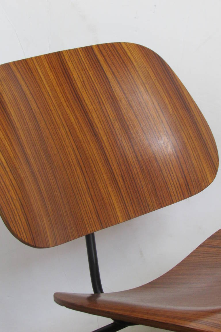Early Eames Lcm In Zebra Wood At 1stdibs